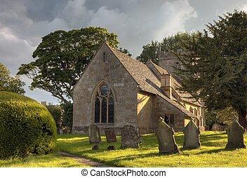 Cotswold church - Pretty church at Ebrington near Chipping...