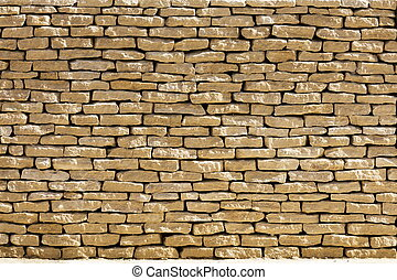 Cotswold dry stone wall - Cotswold dry wall with sunlight UK...