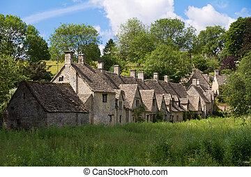 cotswolds, arlington, bibury, gloucestershire, coln, reino ...