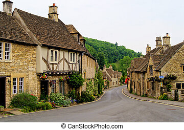 cotswolds, pittoresco, inghilterra