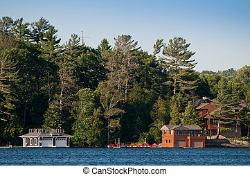 Cottage and a boathouse