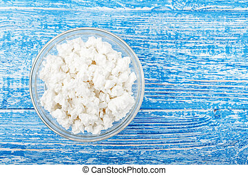 cottage cheese in a plate