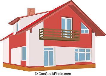 Cottage (Detailed). Vector illustration for you design
