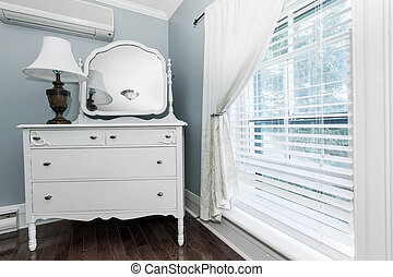 Cottage dresser with mirror - White painted dresser with...