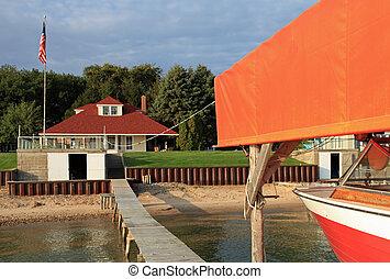 cottage, estate, attraente