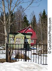 cottage, estate, vecchio