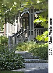 Cottage front entrance