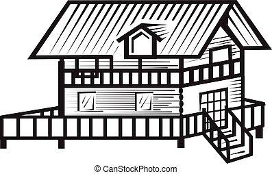 cottage illustration