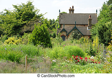cottage in garden - Polesden Lacey, Surrey, UK