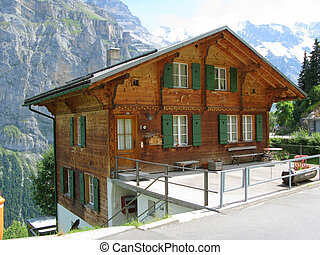 cottage in Muerren, Switzerland