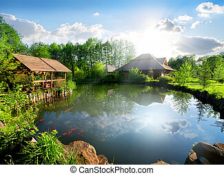 Cottage near lake