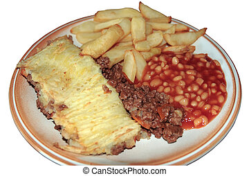 cottage pie with clipping path