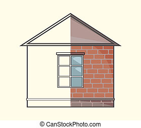 Cottage project vector illustration
