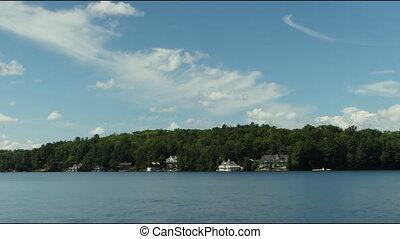 Cottage shoreline. Time lapse.