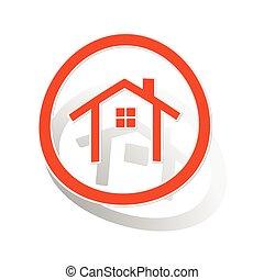 Cottage sign sticker, orange