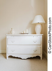 Cottage style chest of drawers - Zoom of white cottage style...