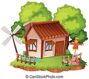 Cottage with little garden