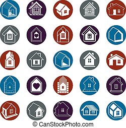 Cottages collection, real estate an