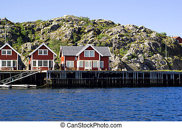 Cottages on island Skrova in Norway - Cottages on island...