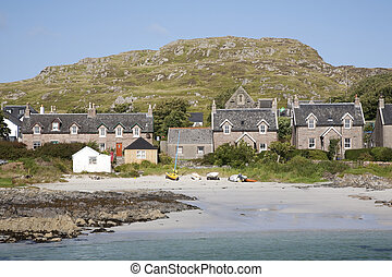 Cottages on the Isle of Iona, Scotland