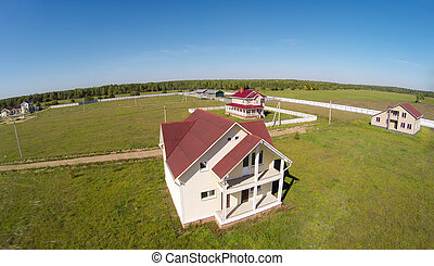 Cottages - Aerial view of the econom class cottages in...