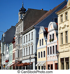 cottbus facades - cottbus, germany, altmarkt, with...