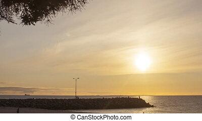 Cottesloe beach, Perth, Western Australia on sunset....