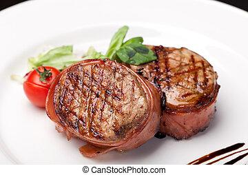 cotto ferri, bistecca, bbq
