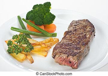 cotto ferri, bistecca, piastra