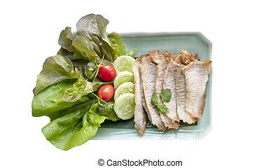 cotto ferri, carne di maiale, fetta