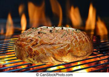 cotto ferri, griglia, carne