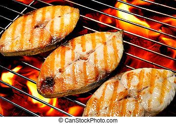 cotto ferri, griglia, fish
