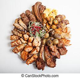 cotto ferri, piatto, pietanza, carne