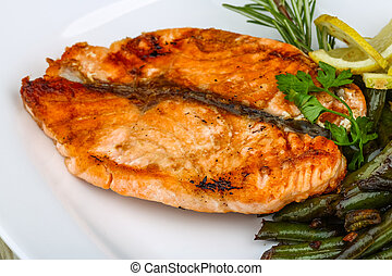 cotto ferri, verde, salmone, fagioli