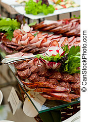 cotto, freddo, salsiccia, carni, ristorazione