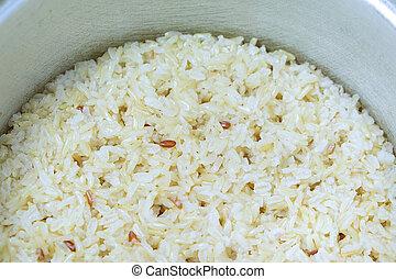 cotto, marrone, rice.