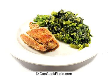cotto, pollo, cotto, verdura