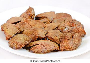 cotto, pollo, fegato