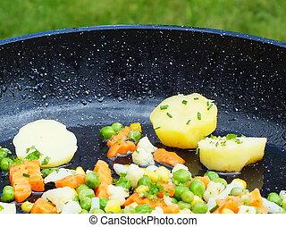cotto, verdura, colorito