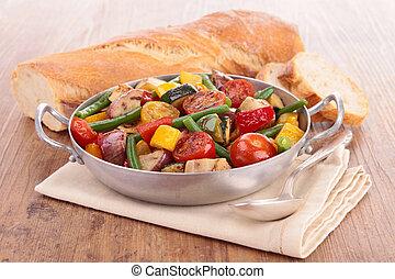 cotto, verdura,  ratatouille