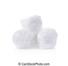cotton ball on a white background.