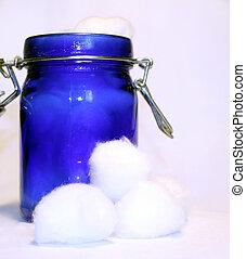 Jar of cotton balls