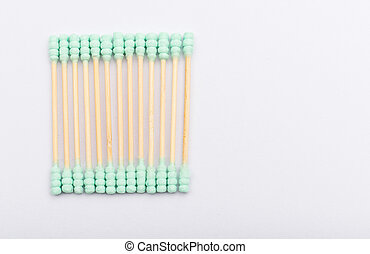 Cotton buds isolated on white background