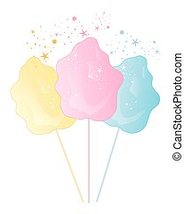 cotton candy background - an illustration of cotton candy...