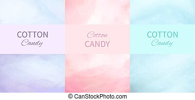 Cotton Candy Backgrounds in Purple, Pink and Blue - Cotton...