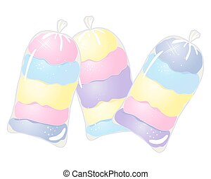 cotton candy bags - a vector illustration in eps 10 format...