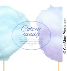 Cotton Candy Banner with Sweet Floss Spun Sugar - Cotton...