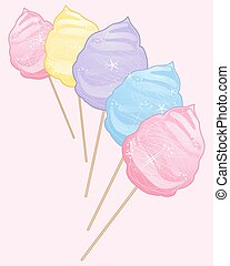 cotton candy confectionery - a vector illustration in eps 10...