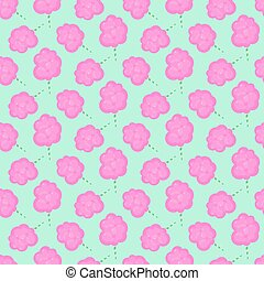 Cotton candy floss vector seamless pattern