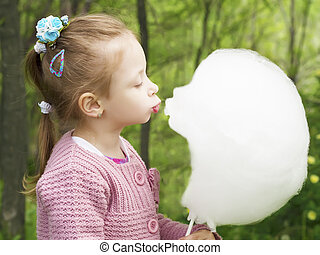 Cotton candy kiss